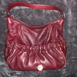 Michael Kors burgundy leather bag